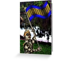 Patriot ...with Flag Greeting Card