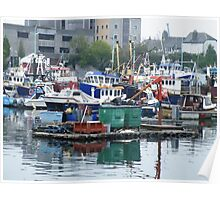 fishing boats2 Poster