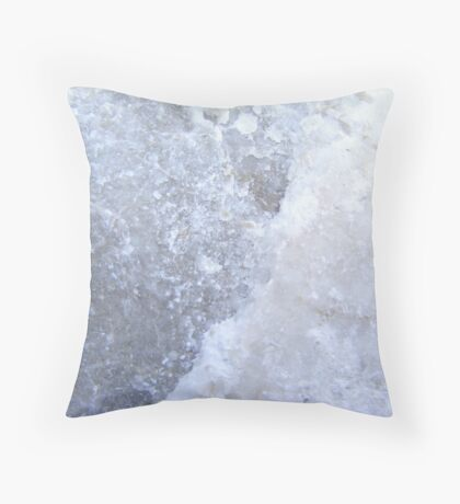 Icey rock. Throw Pillow