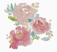 Peonies Watercolor Bouquet Kids Clothes