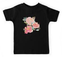 Peonies Watercolor Bouquet Kids Tee