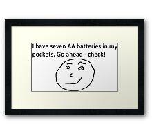 7 AA Batteries Framed Print