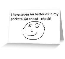 7 AA Batteries Greeting Card