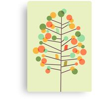 Happy Tree - tweet tweet Canvas Print