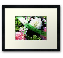 Love and Remembrance Framed Print