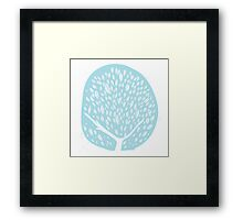 Tree of life - baby blue Framed Print