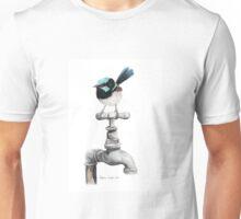 Superb Blue Wren Perched on Garden Tap Unisex T-Shirt
