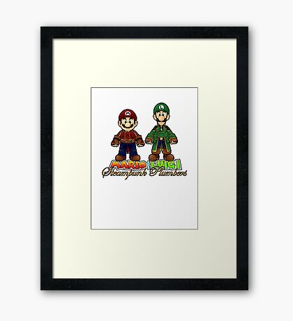 Super Mario Bros Steampunk Plumber Framed Print