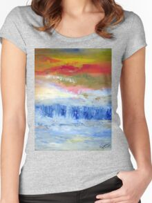 Abstract abundance Women's Fitted Scoop T-Shirt