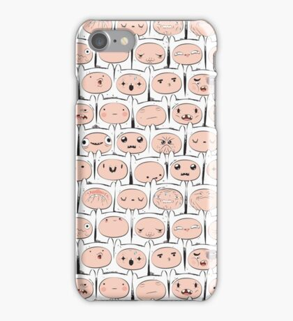 The many faces of Finn the human iPhone Case/Skin