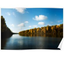 View on the autumn river Poster