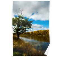 Autumn river  Poster