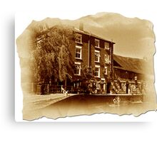 The Old Mill Parchment Canvas Print