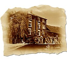 The Old Mill Parchment Photographic Print