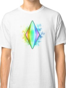 Rainbow Plumbbob Grunge Classic T-Shirt