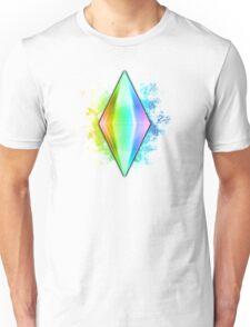 Rainbow Plumbbob Grunge T-Shirt
