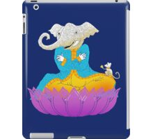 Ganesh on Lotus with Mouse iPad Case/Skin