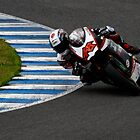 #48 Shoya Tomizawa at the Jerez de la Frontera, Spain racetrack by fototaker