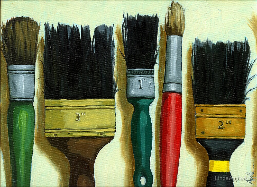 "Paintbrushes - ""Tools of the Trade"" by LindaAppleArt"