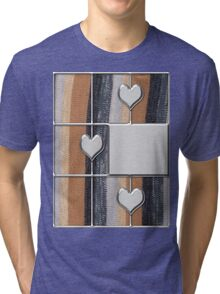 abstract t-shirt design Tri-blend T-Shirt