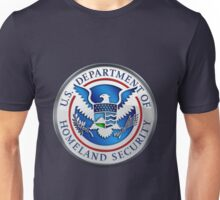 Department of Homeland Security - DHS Emblem 3D on Blue Velvet Unisex T-Shirt
