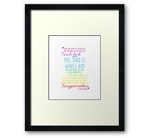 Once Upon a Time - Emma Swan Quote Rainbow Framed Print