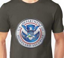 Department of Homeland Security - DHS Emblem 3D on Red Velvet Unisex T-Shirt
