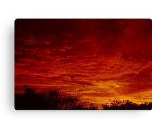 Fiery Sky - Harare Sunset Canvas Print