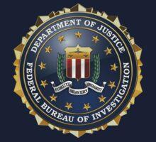 Federal Bureau of Investigation - FBI Emblem 3D on Blue Velvet Kids Clothes