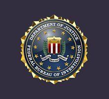 Federal Bureau of Investigation - FBI Emblem 3D on Blue Velvet Unisex T-Shirt