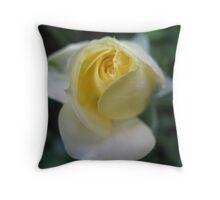 Lemon Ice Rose Throw Pillow