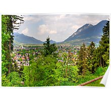 View over Garmisch. Germany. Poster