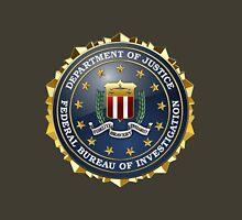 Federal Bureau of Investigation - FBI Emblem 3D on Red Velvet Unisex T-Shirt