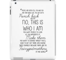 Once Upon a Time - Emma Swan Quote B&W iPad Case/Skin