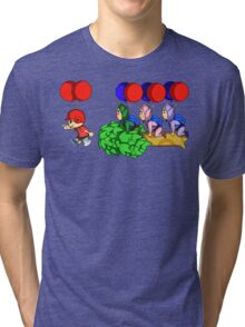 Balloon Fight: Villager Style Tri-blend T-Shirt