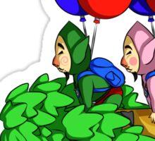 Balloon Fight: Villager Style Sticker