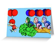 Balloon Fight: Villager Style Greeting Card