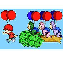 Balloon Fight: Villager Style Photographic Print