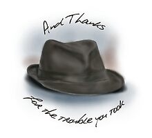 Hat for Leonard Cohen by brodyquixote