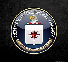 Central Intelligence Agency - CIA Emblem 3D on Black Velvet by Serge Averbukh