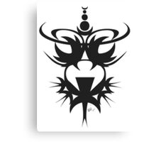 African Head Mask B Canvas Print