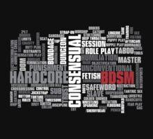 BDSM words cloud by SheriffBear