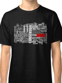 BDSM words cloud Classic T-Shirt