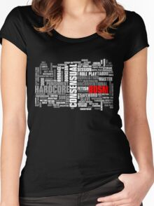 BDSM words cloud Women's Fitted Scoop T-Shirt