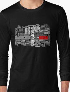 BDSM words cloud Long Sleeve T-Shirt