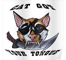Cat Gotcher Tongue Poster