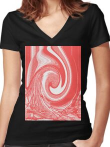 abstract t-shirt design Women's Fitted V-Neck T-Shirt