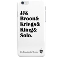 USWNT Soccer Team Defensive Line iPhone Case/Skin
