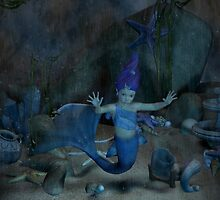 Captured Baby Mermaid  by Arthur Carley