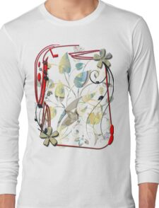 floral t-shirt design Long Sleeve T-Shirt